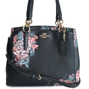 COACH Minetta Satchel ~ Black Tossed Bouquet NWT